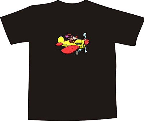 Black Dragon - T-Shirt E687 - Farbe nach Wahl - Größe XXL - Logo/Grafik - Comic Design - lustiger Hund mit Brille im Flugzeug - Funshirt Mann Frau Party Fasching Geschenk Arbeit - bedruckt