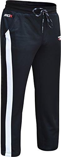RDX Traininghose Herren Jogginghose Sporthose Präsentationshose Fitnesshose Freizeithose Haushose Laufhose Weiß