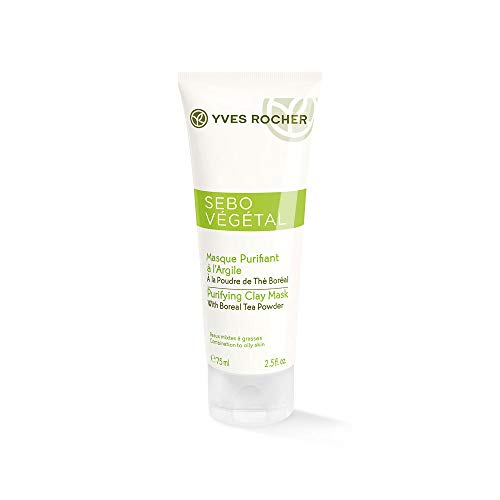 Overnight Repair Mask (Yves Rocher SEBO VÉGÉTAL Tonerde-Maske, porentiefe Gesichtsmaske, reinigt & mattiert die Haut, 1 x Tube 75 ml)