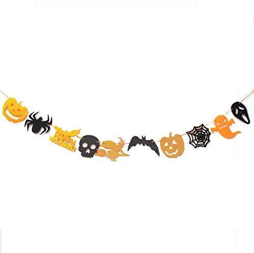 Partido de la Bandera de 10pcs Feliz Halloween Para Las decoraciones Del Partido de Halloween ()