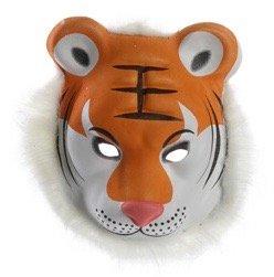 Bada Bing Maske Tiger mit rosa Nase Kostüm Verkleidung - Tiger Nase Kostüm
