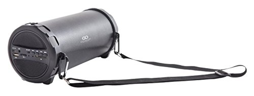 GOCLEVER Sound Tube - Tragbare Bluetooth Lautsprecher (MP3-Player, FM Radio, Subwoofer, microSD, 1000 mAh Akku) Schwarz