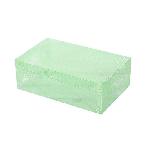 Ballylelly PP Kunststoff Schuh Boxen Universal Speicherorganisator Stapelbar Platzsparenden Flip Typ Schublade Box für Hausschuhe Sandalen Sportschuhe (grün)