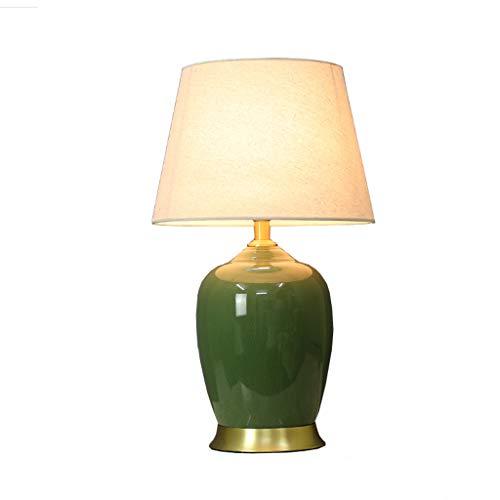 SLH Amerikanischen minimalistischen grünen Keramik Tisch Tamp Wohnzimmer Seite wenige Lichter Schlafzimmer Nacht Schreibtischlampe Höhe 60 cm - Grüne Keramik Tisch Lampe