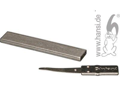 Home Xpert Zahnstocher ZAHNFREUND, Zahnreiniger, platinfarben mit echtem Silberblatt, 4 cm inkl. Griff, 5,5 cm Gesamtlänge mit Etui