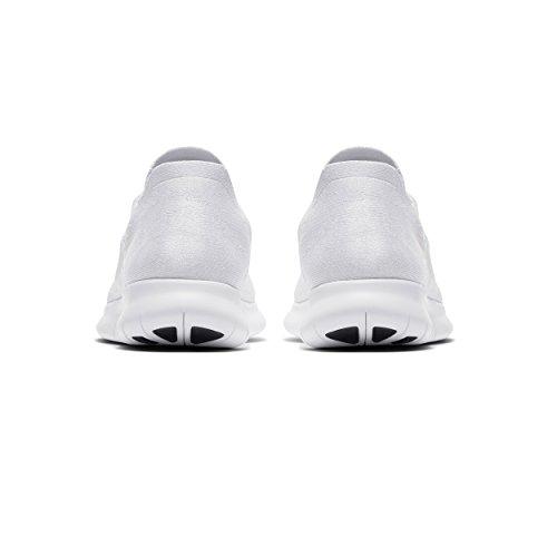 Nike Free Run Flyknit 2017, Scarpe Running Uomo White/White-pure Platinum-black