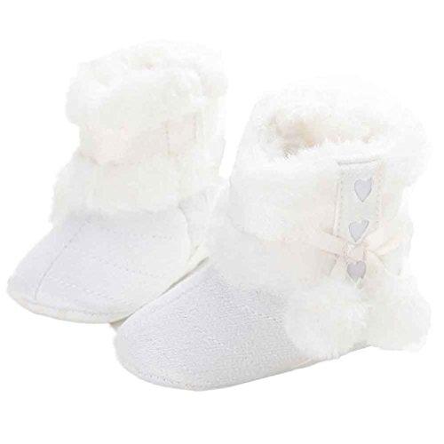 Clode® Schuhe für 0-12 Monate Baby ,Snow Boots Soft-Krippe Winter warme Schuhe Kleinkind Stiefel Weiß