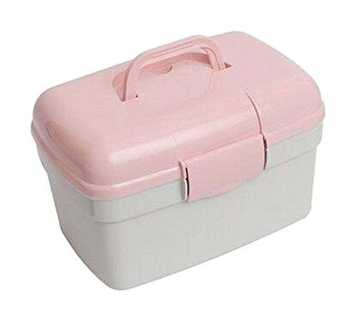 Tragbare Familie Medizinschrank Erste-Hilfe-Kit Aufbewahrungsbox Rosa
