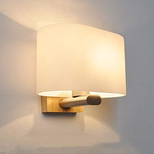 LJ Nordic Moderne Minimalistische Wandleuchte Kreative Glas Holz Beleuchtung Lange 200 * 140 * 160 (mm) 5-8 Quadratmeter Restaurant Schlafzimmer Studie Korridor -