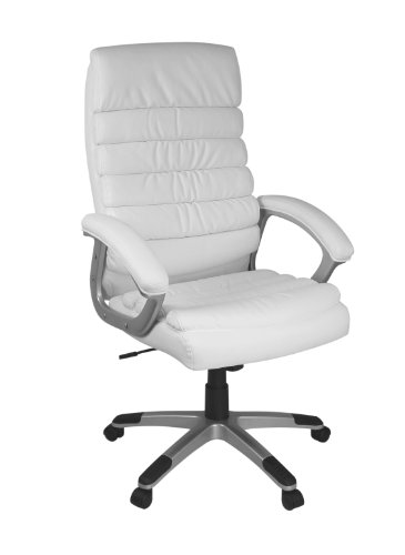 AMSTYLE office chair VALENCIA reference Leatherette White desk chair Design executive chair swivel chair with X-XL Uphol