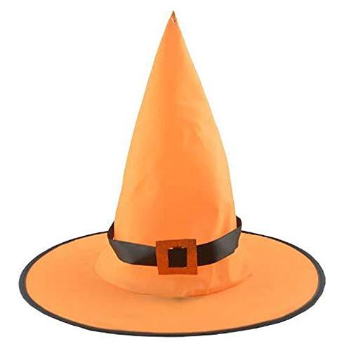 Halloween Requisiten, Erwachsener Hexenhut Halloween Kostüm Kopfbedeckung Cosplay Party Requisiten Erwachsener Hexenhut Halloween Kostüm Kopfbedeckung Cosplay Party Requisiten (Orange) (Baum Kopfbedeckung Kostüm)