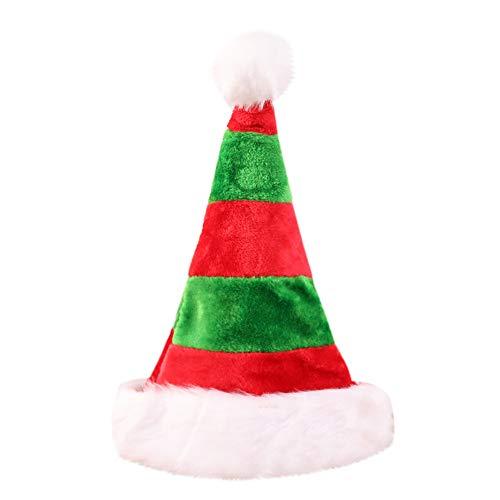 GOKOMO Hochwertige Doppelplüsch Weihnachtsdekoration Persönlichkeit Hut Schmuck Geschenk grün(B)