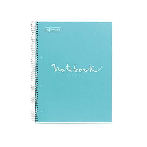 Miquelrius Cuaderno A4 Emotions Azul Cielo 80 hojas Cuadrícula