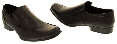 Footwear Studio Dupree Herren Leder Gefüttert Elegante Schuhe Schwarz