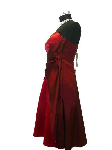 JuJu & Christine Kurzes Damen Satin Abendkleider (2030B) vers. Farben Gr. 34 - 54 Rot