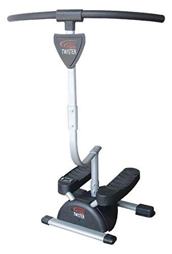 Fitness House Cardio Twister Aparato para piernas y glúteos, Unisex Adulto, Gris, Talla Única