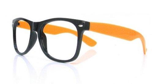 4sold (TM W Lesebrillen BLACK 1,5 RETRO JETZT BIG PROMOTION +1.5 brand (1.5 orange black)