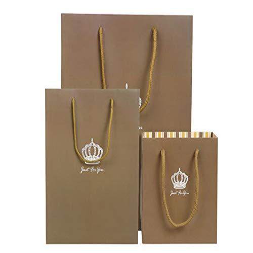 LIUQIAN Geschenktüte Geschäftsgeschenk Klassische Krone Tasche Geschenk Tasche Papier Tasche Handtasche vertikale Geschenk Beutel Süßigkeiten Tasche von DREI Stücken (groß eingestellt und Medium)