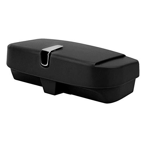 KIMISS Universal Auto Sonnenblende Brille Box Organizer Ticket Empfang Clip Lagerung Inhaber Sonnenbrille aufbewahrungsbox Autoglas Organisator(Schwarz)
