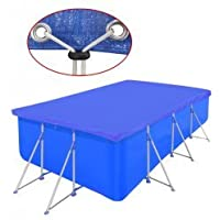 vidaXL Cubierta Piscina Rectangular PE Azul 394x207cm Toldo Protección Jacuzzi