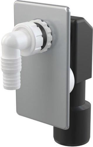 Preisvergleich Produktbild Hochwertiges Unterputzsiphon- APS 3-Unterputz-Siphon für Waschmaschine-Waschmaschienensiphon-Waschmaschienenschlauchanschluß-Farbe: chrom-Aquapont