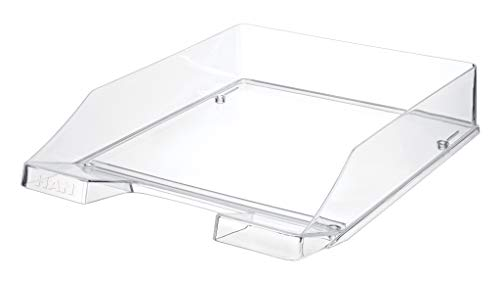 HAN Briefablage KLASSIK 1026-X-23  in Transparent-Glasklar / Hochwertige, stapelbare Ablage im modernen Design / Für Briefe & Papiere bis Format A4–C4, 6 Stück