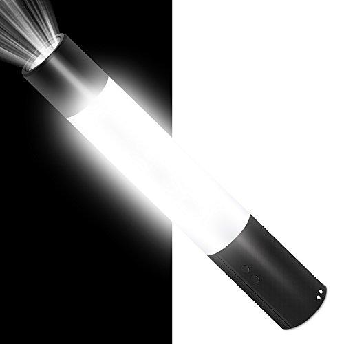 Wiederaufladbare LED-Taschenlampe, Taschenlampe für Camping, Laterne für Zelt, Camping Ausrüstung mit platzsparend, Nachttisch, Tisch für Art Deco Lampe in Schlafzimmer, Lampe, für Lesung Studie Arbeit, fruitman 5in 1Multifunktions Tragbare Lampen