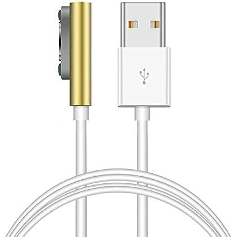 Jiam® Tipo 1 Magnético USB cable para Sony Xperia Z1 XL39H Z2 Z3 Línea de datos del cargador del convertidor del adaptador de