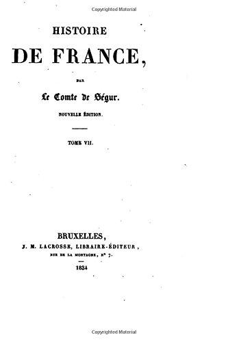 Read Histoire De France Tome Vii Pdf Arthurmukha