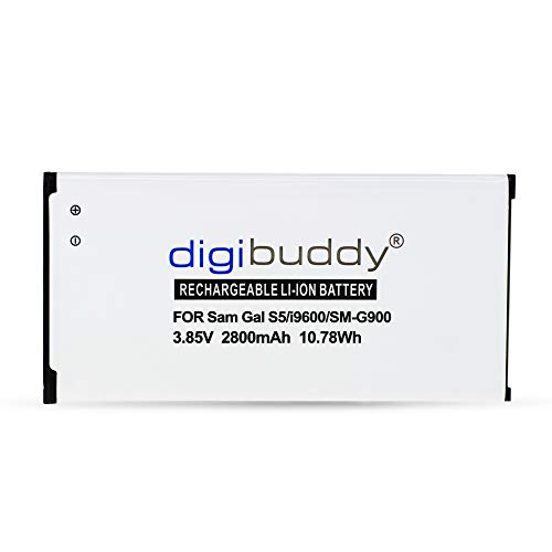 Akku für Samsung Galaxy S5 GT-i9600 / S5 SM-G900 / EB-BG900BBE / EB-BG900BBEGWW / EFOX Smart-E5S NFC 2800mAh Li-Ion mit integrierter NFC-Antenne von digibuddy (Galaxy Att S5 Handys)