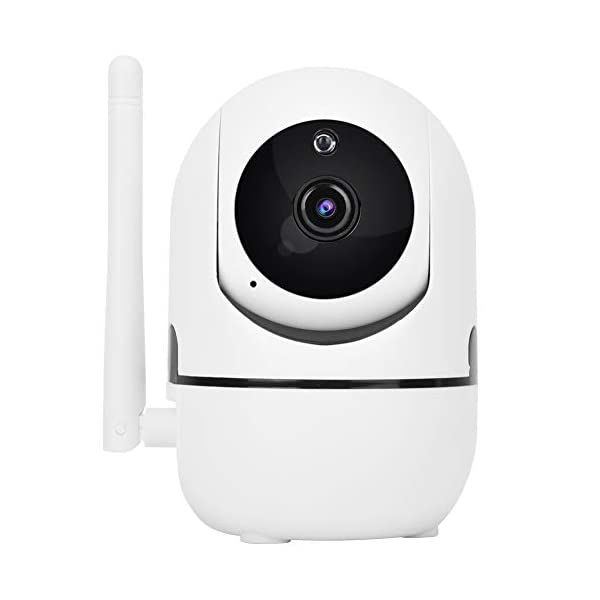 Baby Monitor 720P/1080P HD WiFi Camera Baby Pet Monitor, Smart Wireless IP Camera Indoor Camera with Night Vision and Motion Tracking White(1080P)  720P/1080P HD Images & Night Vision: This baby monitor adopt 1080P/702P full HD lens to ensure bright and beautiful images. Premium infrared light with IR-CUT function, provides clean and clear night vision effect. Intelligent tracking, human body detection, area protection (200W model support). Motion Tracking: The IP camera can monitor movements then send notification to your mobile phone to prevent your home From invasion. Intelligent cruise, internal auto cruise mode, records every corner of your home to escort your home security. 2 Way Audio Anti Noise: Baby pet monitor camera support two-way voice intercom, built-in microphone & speaker and anti noise technology to ensure clear voice quality. The fluent sound allows you to comfort your loved one. You can communicate with each other clearly whenever you want. 2