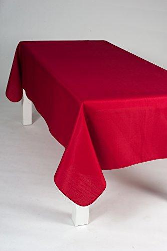 Nappe rectangulaire 240 x150 cm unie rouge