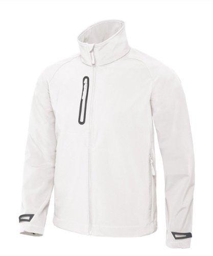 BCJM951 Herren Softshell Jacke atmungsaktiv (bis Größe 3XL) White