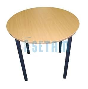 Table ronde diamètre 120cm Hêtre/Anthracite
