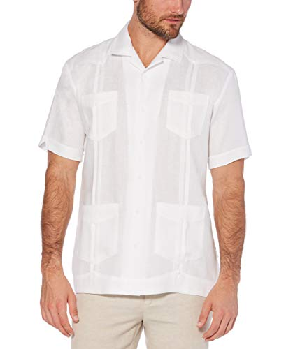 Cubavera Herren Big and Tall Short-Sleeve 100% Linen Guayabera Button Down Hemd, Bright White, XX-Large Groß -