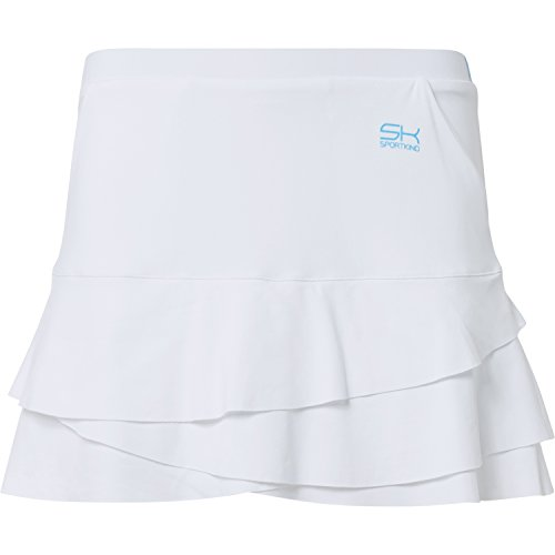 Sportkind Mädchen & Damen Tennis / Hockey / Golf Tulip Rock mit Taschen & Innenhose, weiss, Gr. S (Mädchen-hockey-t-shirts)