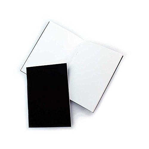 Confezione da 3 - quaderni per schizzi per principianti a5, copertina nera opaca, fogli bianchi da 140gsm