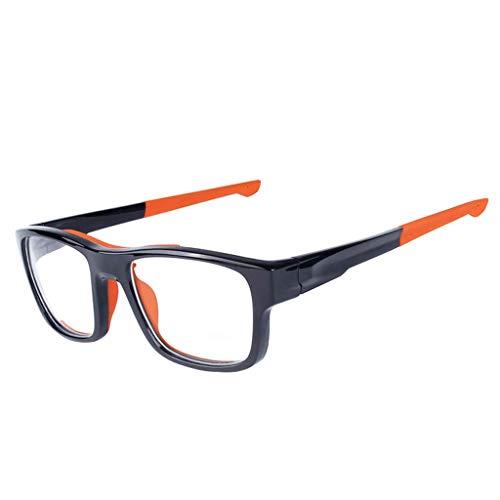 Outdoor-Sportbrillen für Männer und Frauen, Rahmen TR90 Anti-Schock-Kurzsichtigkeit (Farbe : Orange feet)
