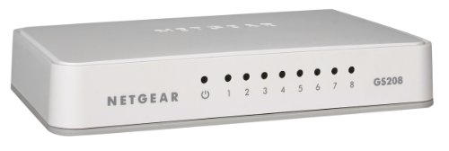 NETGEAR GS208-100PES Gigabit Unmanaged Switch (8-Port)