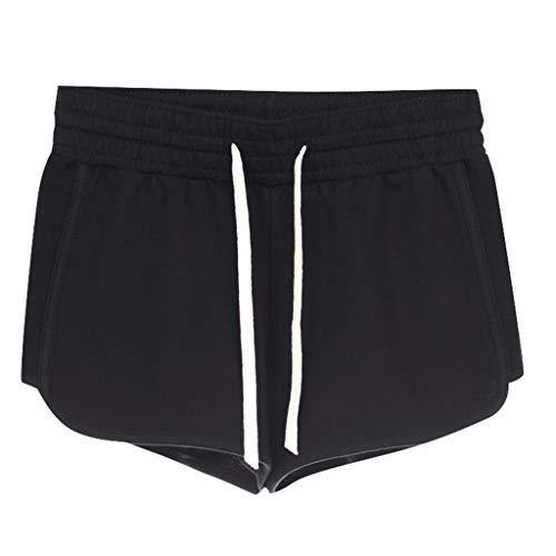UFACE Damen Leinenshorts Bermuda lockere Kurze Hose Freizeithose 100% Leinen Shorts Elegante Haremshose mit Knöpfen Sommer Strand