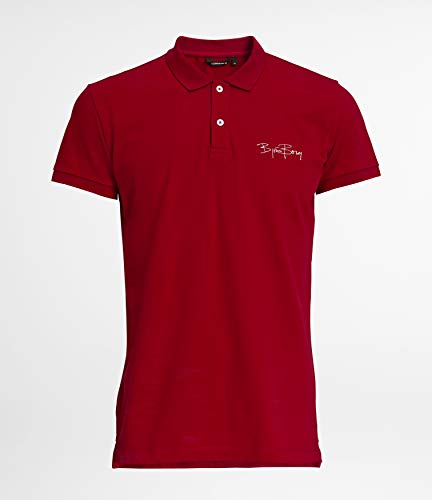 Björn Borg Herren Signature Collection 78 Rib Polo Men Poloshirts, rot, M -
