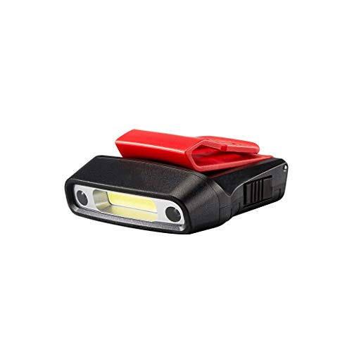 TMY KOPFLAMPE Induktion Wasserdichte Scheinwerfer Angeln Hut Clip Licht Doppelschalter Clip Licht USB-Ladekopf Scheinwerfer
