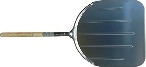 FALCI 249964M86Pelle à Pizza en aluminium avec manche en bois, gris, L