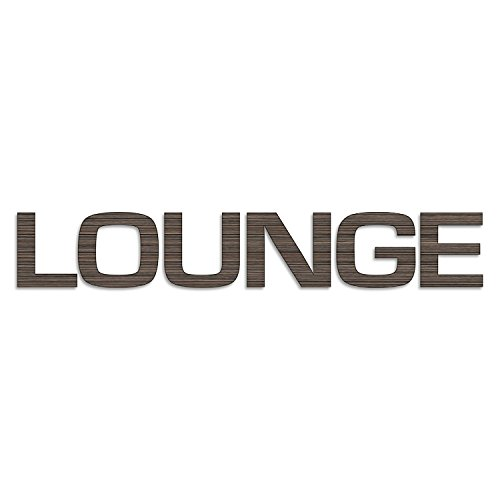 Cuadros Lifestyle Wanddekoration/Wandbuchstaben - Schrift/Schriftzug 'Lounge' in Holzoptik