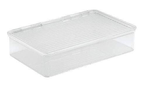 InterDesign Cabinet/Kitchen Binz Aufbewahrungsbox, stapelbarer Küchen Organizer aus Kunststoff, kleine Vorratsdose mit Deckel, - Binz Kühlschrank