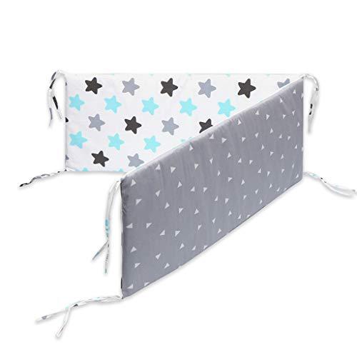 Baby Krippe Stoßfänger mit Bandage ® Einteiliges Kinderbett um Kissen Kinderbett Protector Kissen Handbuch Ausziehbares Bett A