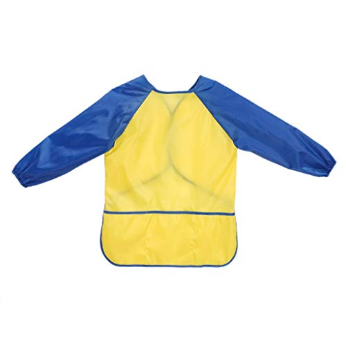 Zeagro wasserdichte Schürze für Kinder, zum Zeichnen, Malen, mit Langen Ärmeln (Snack Maschine Kostüm)