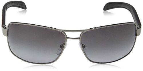 Prada Linea Rossa Herren Sonnenbrille PS54IS, Grau (Gunmental 7CQ5W1), One size (Herstellergröße: 65)