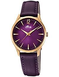 2fd701e400f6 Lotus Watches Reloj Análogo clásico para Mujer de Cuarzo con Correa en  Cuero ...