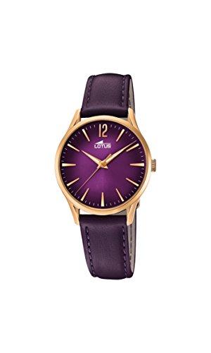 Lotus Watches Reloj Análogo clásico para Mujer de Cuarzo con Correa en Cuero 18407/4